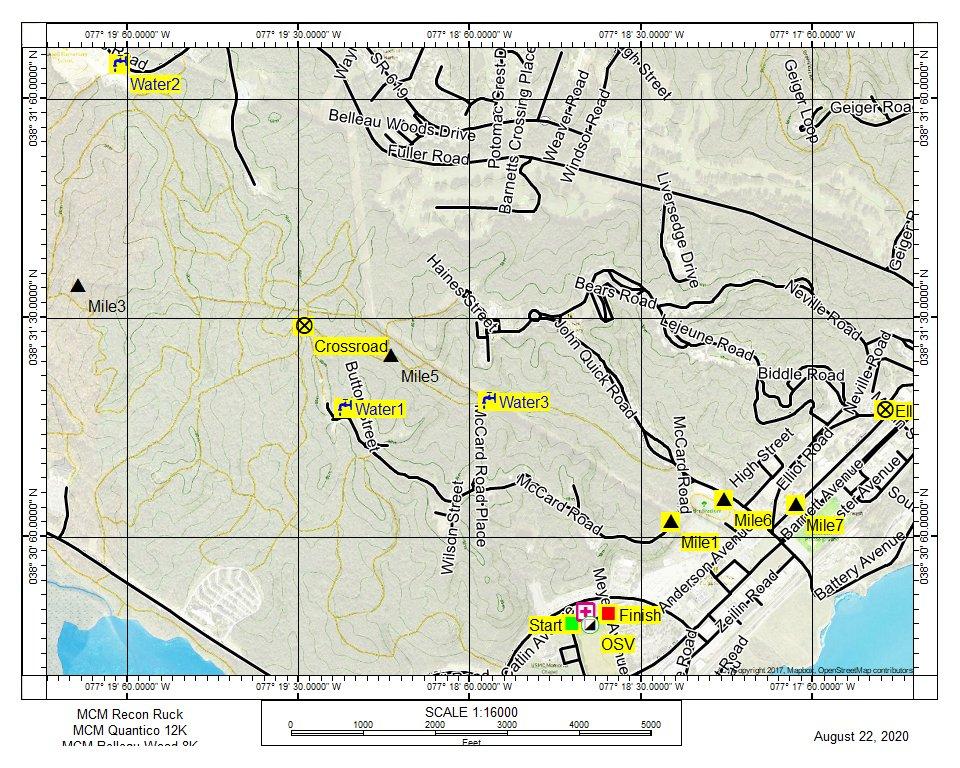 MCM August Run Topo Map