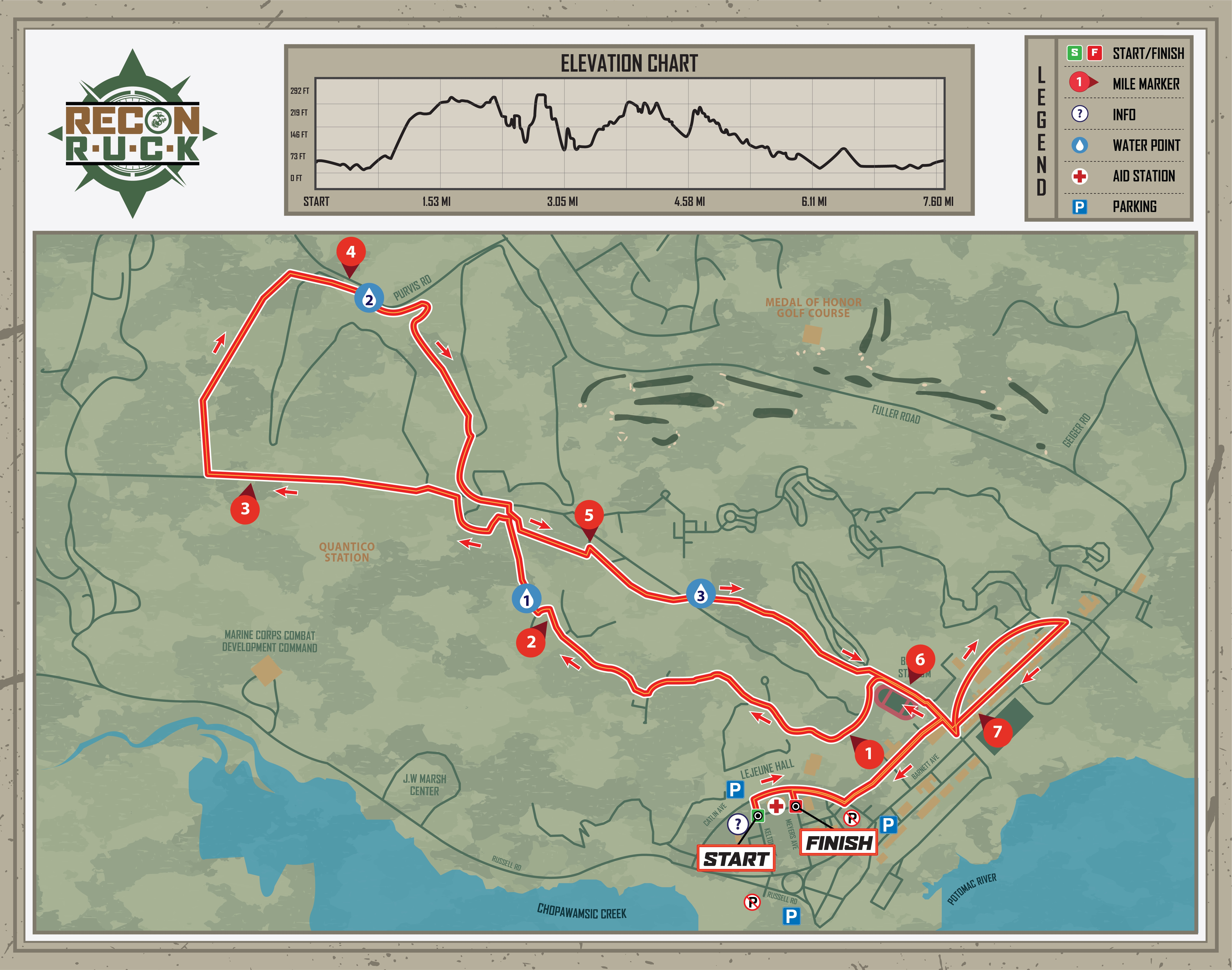 Recon Ruck Course Map