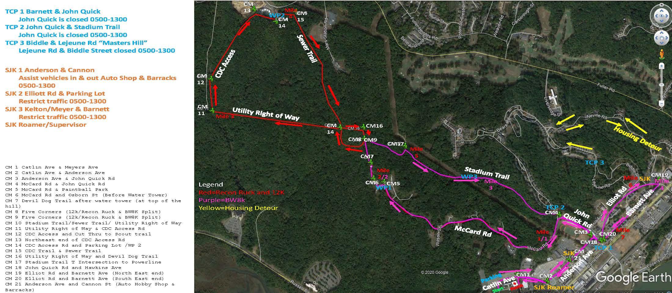 MCM Cours Marshals Map