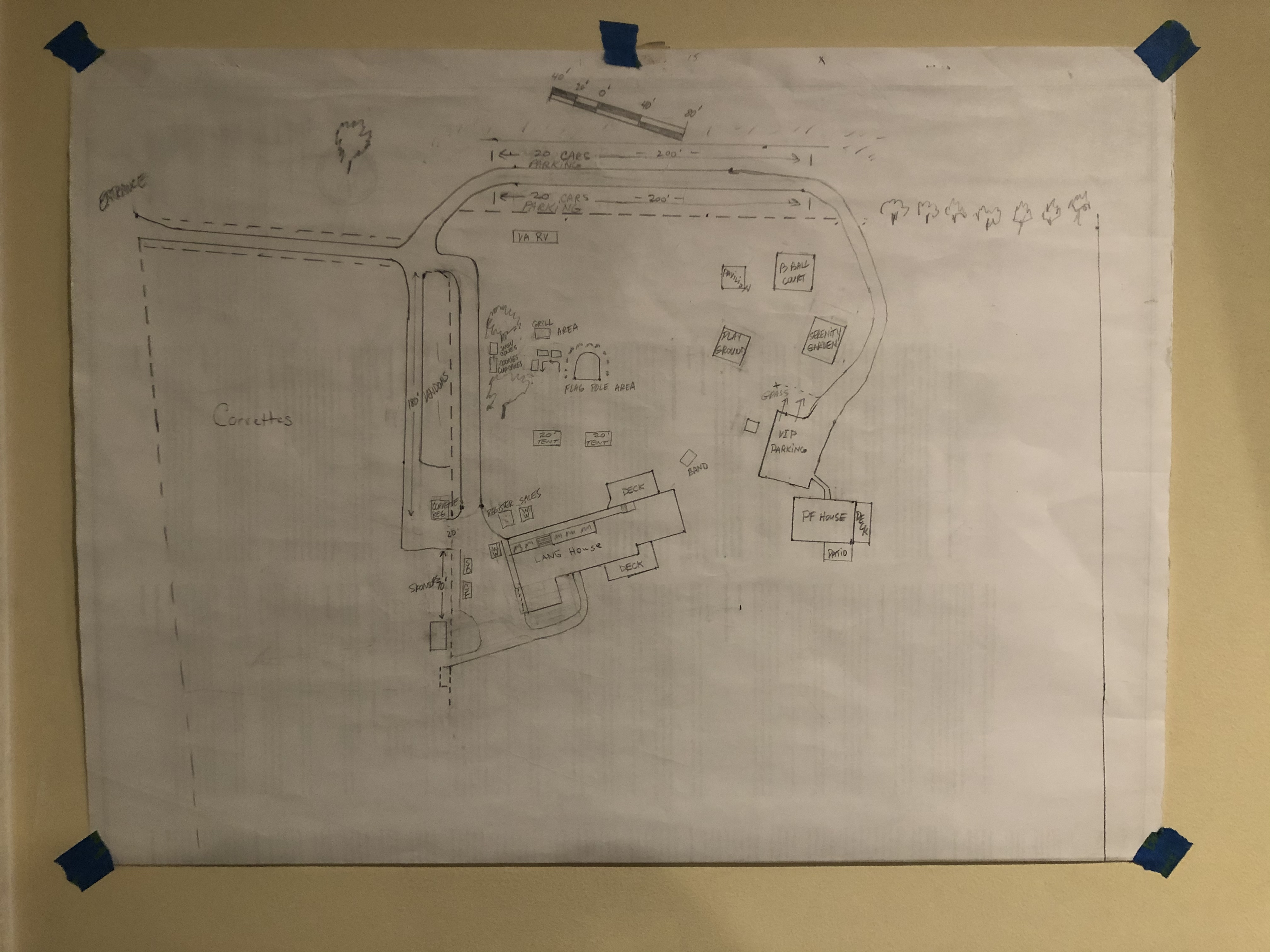 Willing Warriors Campus Parking Rough Map